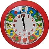 HenBea 782 Animaux Horloge Quartz Plastique Rouge 25 x 25 x 7 cm