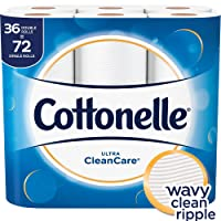Cottonelle Ultra CleanCare Toilet Paper, Strong Bath Tissue, 36 Double Rolls