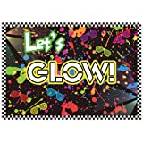 Allenjoy 7x5ft Let's Glow in the Dark Theme Birthday Backdrop for Adult's Teen Blacklight Tween Neon Doodle Disco Rainbow Sleepover Party Event Table Decor Banner Background Children Photo Booth Shoot