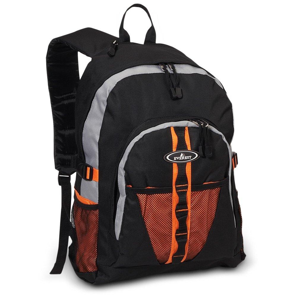 DollarItemDirect エベレストバックパック デュアルメッシュポケット付き 30個入りケース オレンジ 3045W-Ork B07L1VX1Z5 Orange / Black