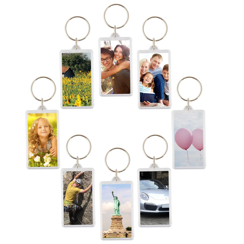 100pcs Custom Personalised Insert Photo Acrylic Blank Keyring