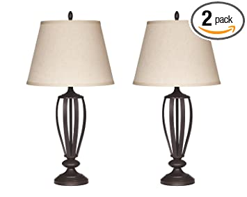 Superb Ashley Furniture Signature Design   Mildred Metal Table Lamp   Vintage  Casual Shades   Set Of