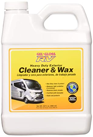 TR Industries CW32 Gel Gloss Heavy Duty RV Cleaner and Wax - 32 oz.