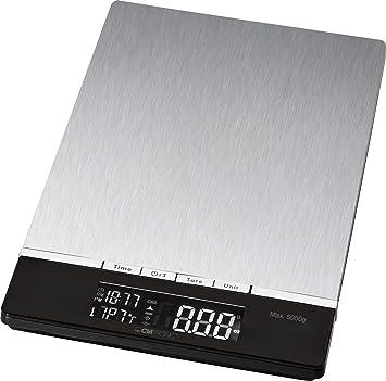 Clatronic KW 3416 Báscula de cocina digital, 5 kg pasos 1 g, función tara