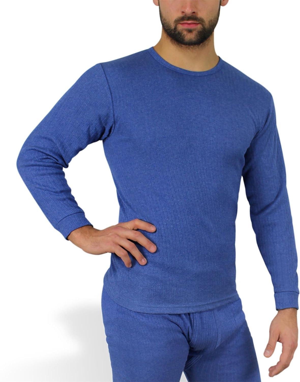 Sehr warme Thermo Unterwäsche von normani® Farbe Hemd Blau Größe 7=M
