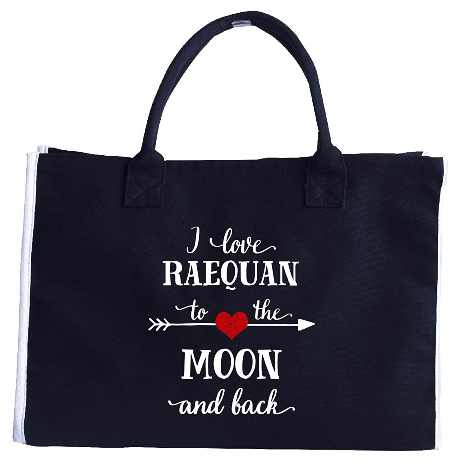 I Love Raequan To The Moon And Back.gift For Girlfriend - Fashion Tote Bag