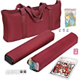 American Mah Jongg Mahjong Set by F2C - 166 Tiles, 4 Colors All-in-One Rack/Pushers, Red Paisley Soft Bag and…