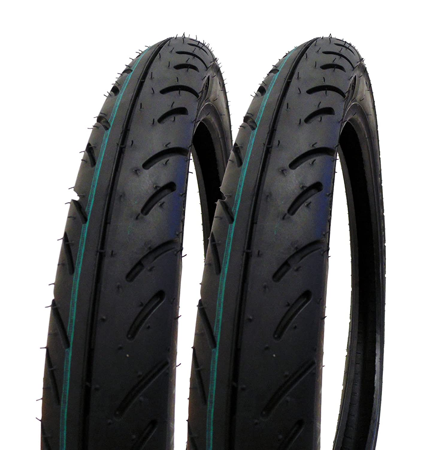 SET OF TWO: Tire 2.50 - 16 (P83) Front/Rear Motorcycle Sport Street Performance Tread MMG 2_50-16