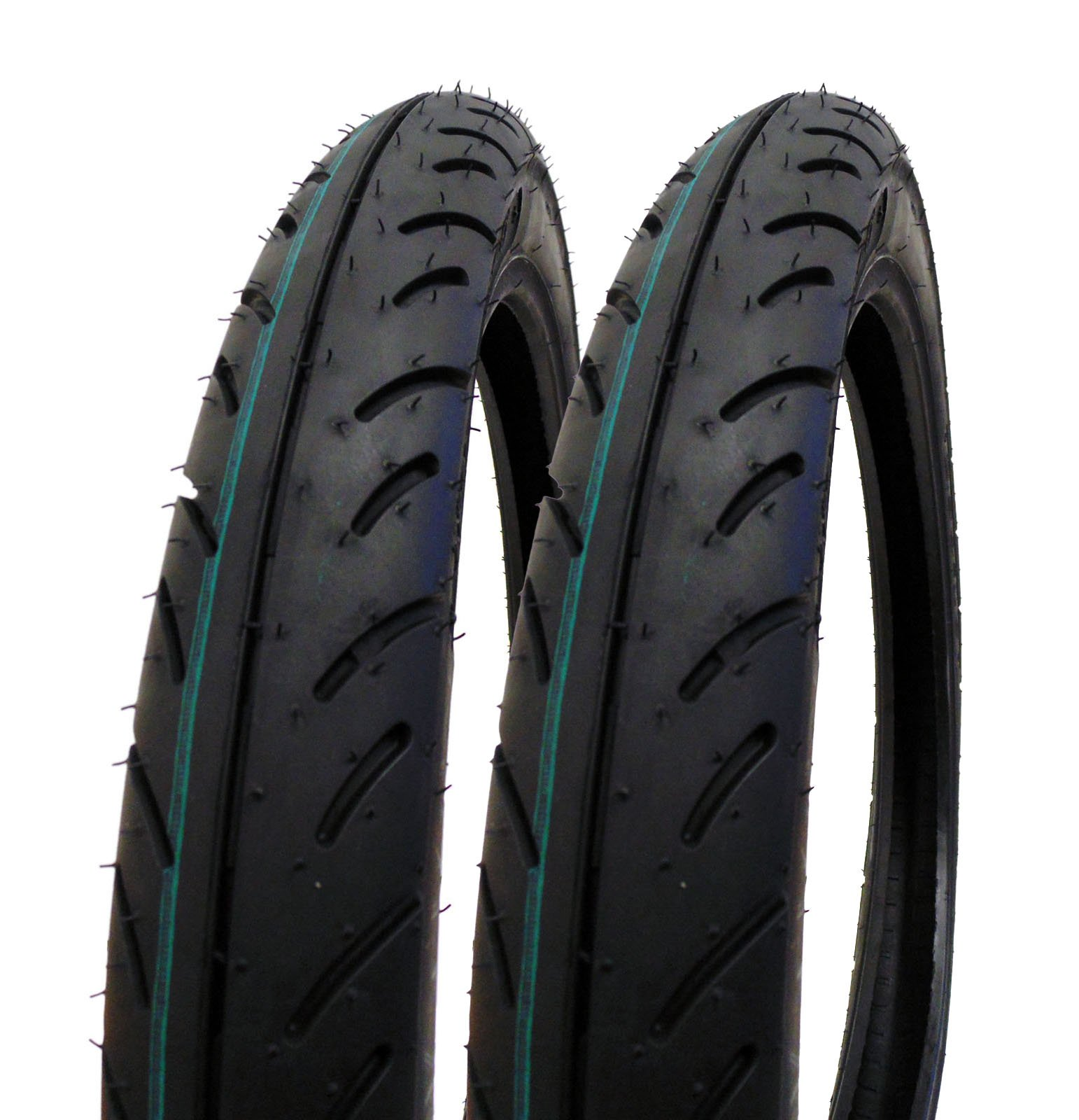 SET OF TWO: Tire 2.50 - 16 (P83) Front/Rear Motorcycle Sport Street Performance Tread