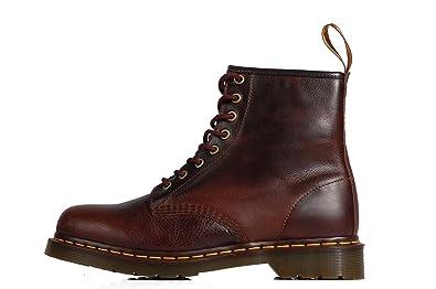 917cc115285a Dr. Martens 1460 Harvest Core Leather Boots Brown – braune Stiefel Leder 8  Ösen,