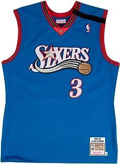 ce7cc603 Mitchell & Ness Allen Iverson 1999-2000 Philadelphia 76ers Authentic Blue  Jersey