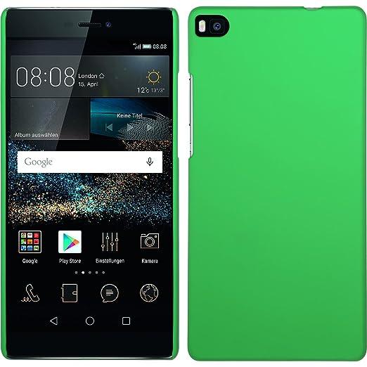43 opinioni per Custodia Rigida per Huawei P8- gommata verde- Cover PhoneNatic + pellicola
