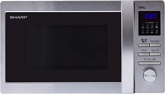 Sharp R-622STWE - Microondas (44 cm, 35,9 cm, 25,8 cm) Acero ...