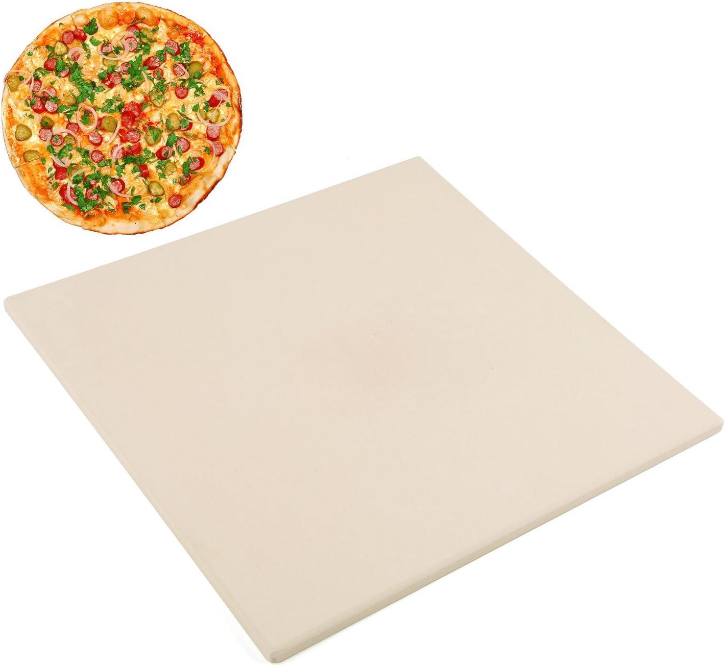 """Waykea 12"""" x 12"""" Pizza Stone Square Baking Stone   Premium Cordierite Pizza Grilling Stone for Grill Oven RV Oven   Bake Homemade Golden Crispy Crust Pizza"""