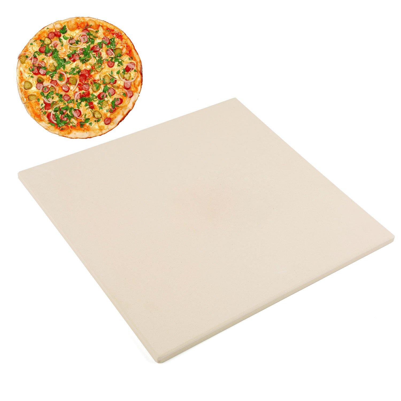 Waykea 12'' x 12'' Square Cordierite Baking Pizza Stone for Grill, Oven or RV Oven