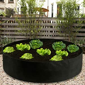 AXABING Extra Large Fabric Raised Planting Bed Round Raised Planter Grow Bag Garden Bed Bag Vegetable Grow Bag Plant Bed Planter Container Growing Cultivation Plant Bag