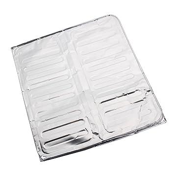 messavor cocina hornillo, Splash Guardia salpicaduras de panel de papel de aluminio aislamiento shield84 X 32 cm: Amazon.es: Hogar