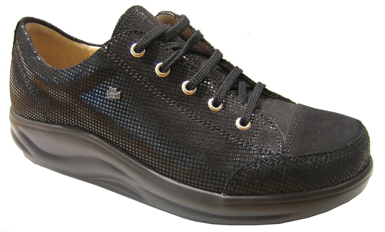 Finn Comfort Finnamic - Zapatos de Cordones de Piel para Mujer Negro  Schwarz rodeobuk 16 cdcc715ca1ec