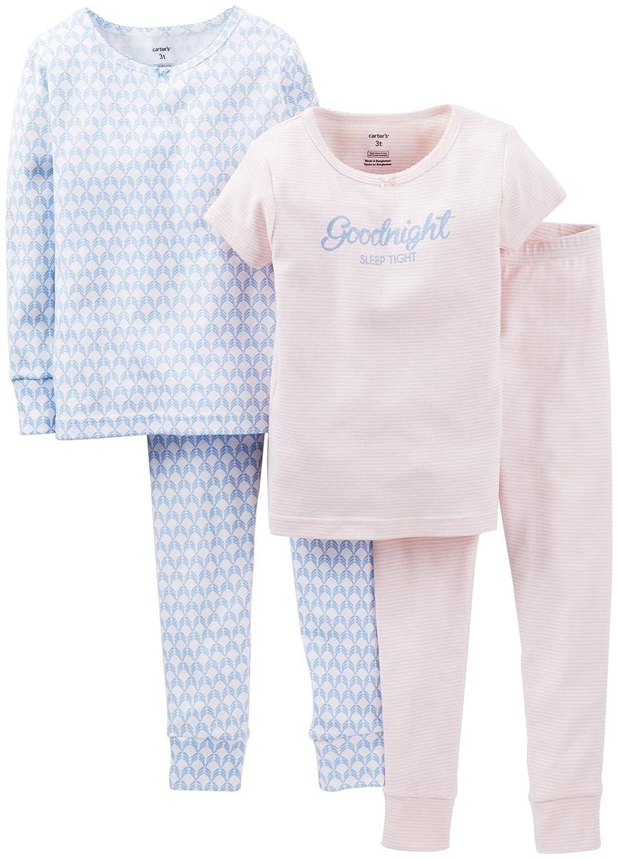 Carters 4 Piece Pant PJ Set Goodnight Baby