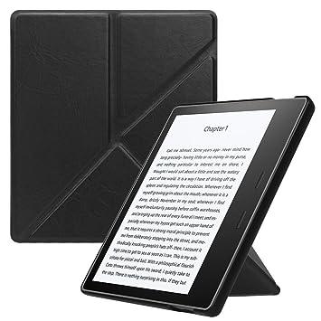 Fintie Origami Funda para Kindle Oasis 2017 (9.ª Generación) - Slim Fit Carcasa Vertical con Función de Auto-Reposo/Activación (No se Adapta a 10.ª ...