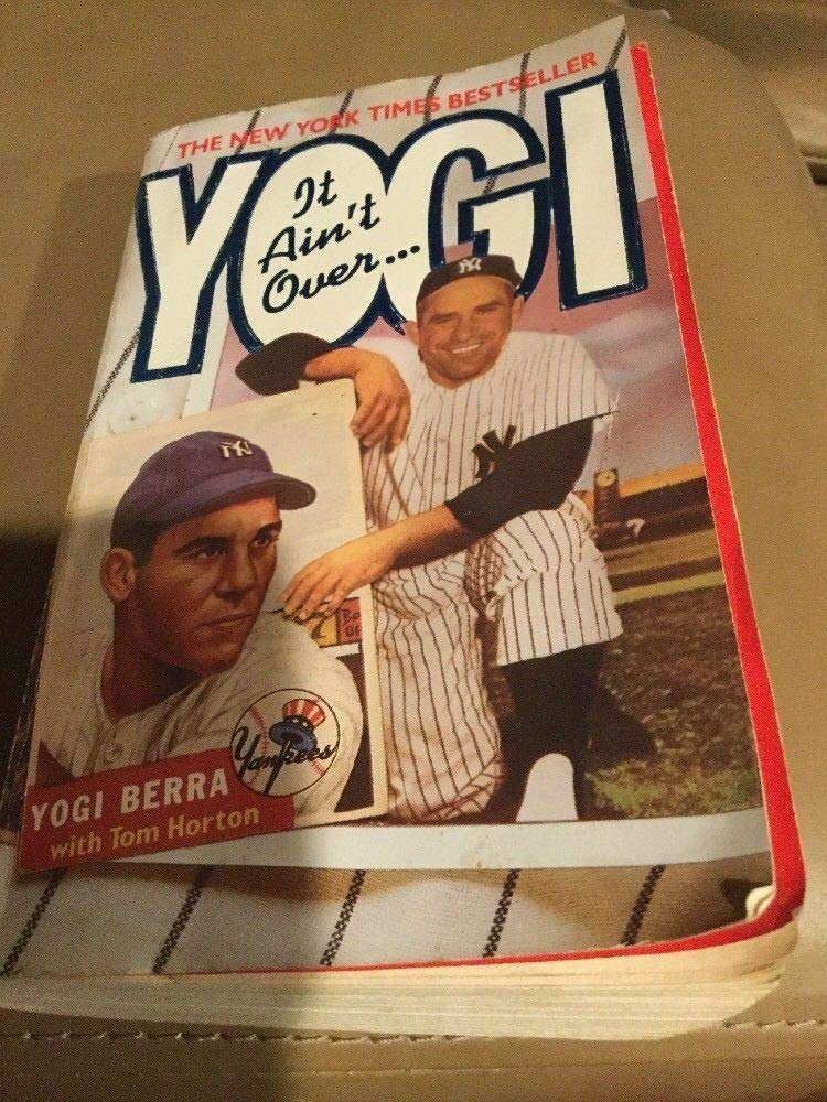 Authentic Memorabilia Hof Yogi Berra Yankee Great Autographed Signed Book It Aint Over Paper Back PSA//DNA