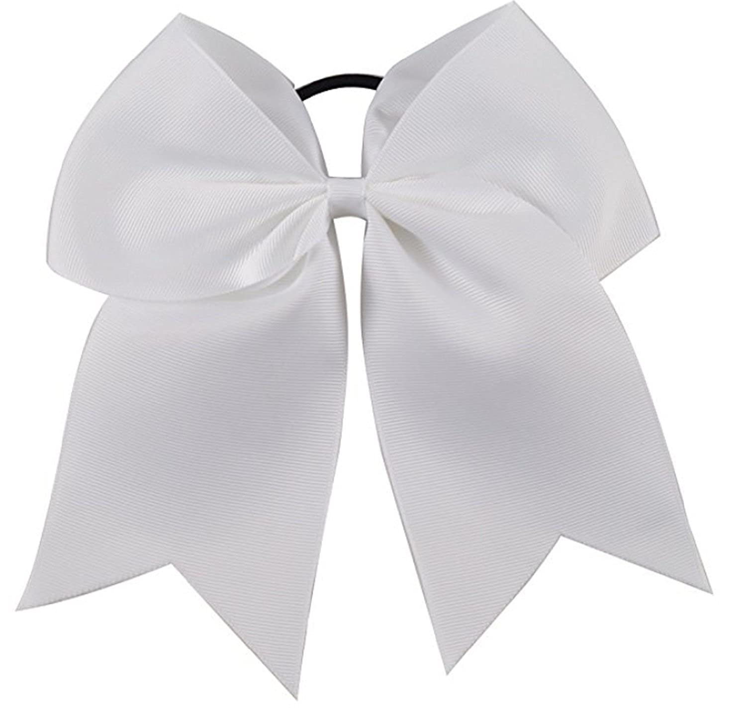 ... Bows White Cheerleading Softball - Gifts for Girls and Women Team Bow  with Ponytail Holder Complete Your Cheerleader Outfit Uniform Strong Hair  Ties ... 6900a3e8f93