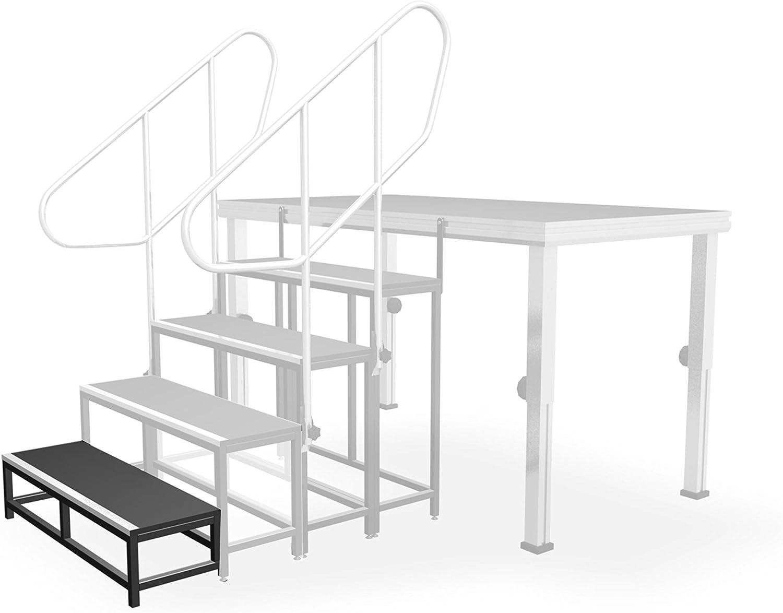 ALU-STAGE escalones de escalera 20 1 escalón, 20cm: Amazon.es: Instrumentos musicales
