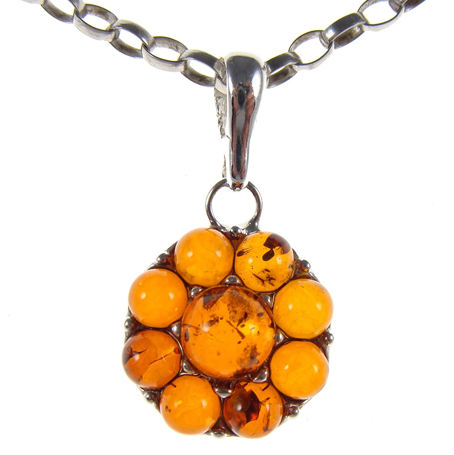 BALTIC AMBER AND STERLING SILVER 925 ALPHABET LETTER O PENDANT NECKLACE 10 12 14 16 18 20 22 24 26 28 30 32 34 36 38 40 1mm ITALIAN SNAKE CHAIN