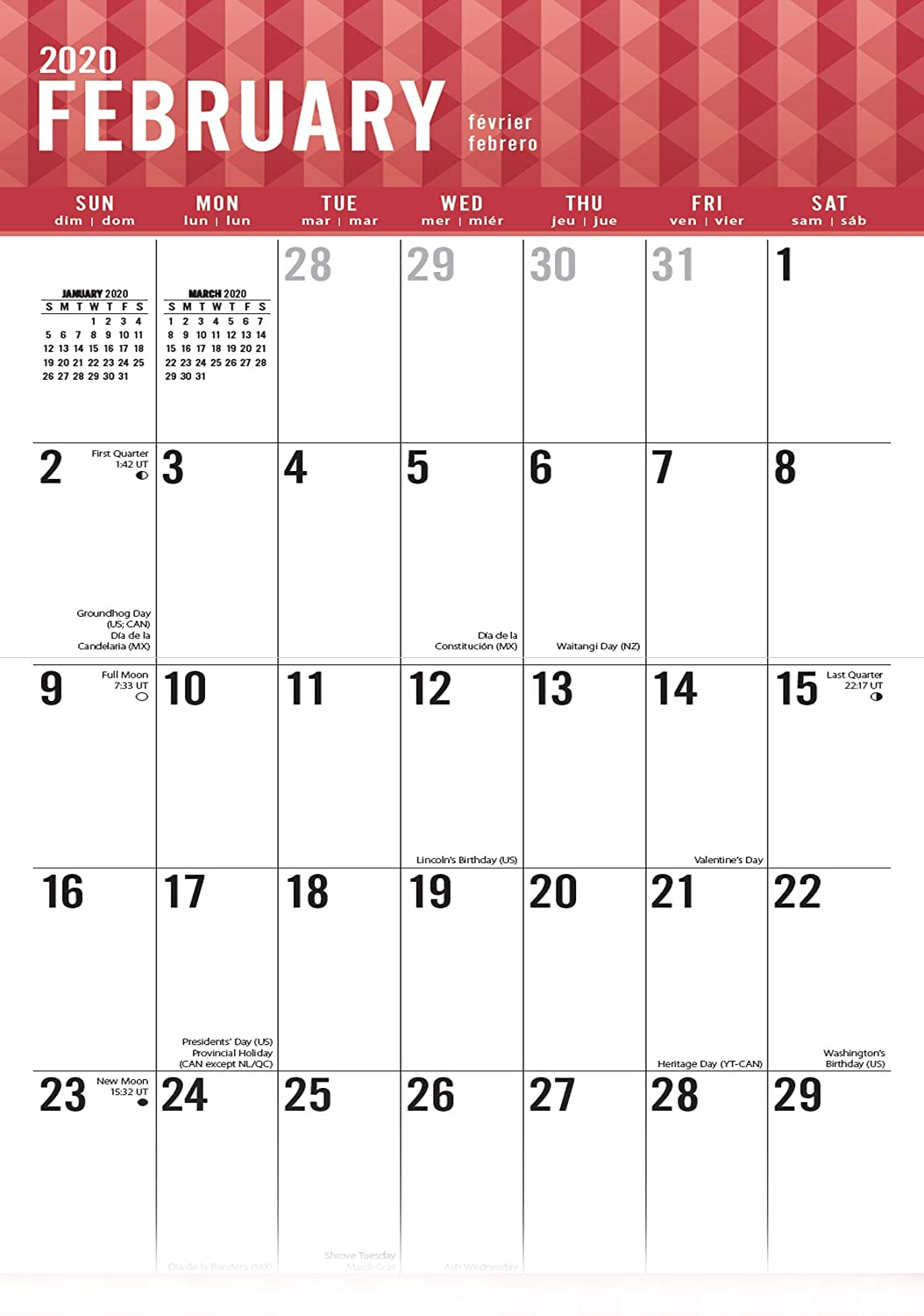 - Thick /& Sturdy Paper Perfect for Organizing /& Planning Oversized Blocks Open 2020 Large Planner Wall Calendar-Jumbo Large Print by Goldistock 12 x 24