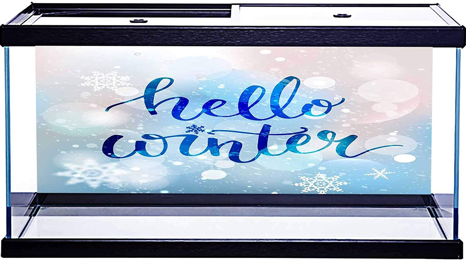 SoSung PVC Aquarium Background Sticker Hello Weekend Card with Awesome elk Fish Tank Wallpaper Sticker