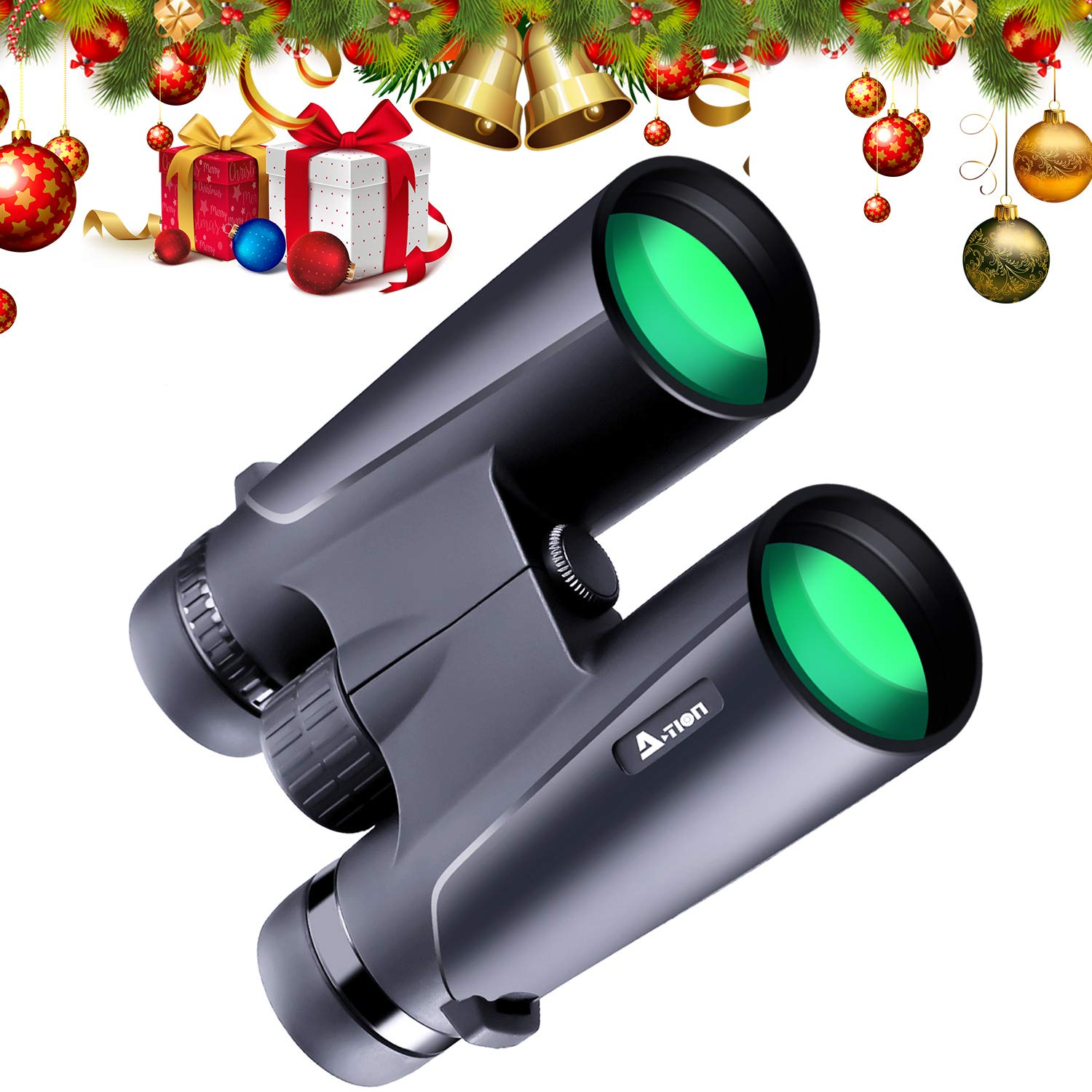 N-Life Professional Binoculars for Adults Low Light Night Vision 12X42 High Power HD Ideal Gift Folding Easy Focus Scope Optics Glasses Adjust Eye Lens for Birds Watching Outdoor Activities Sports