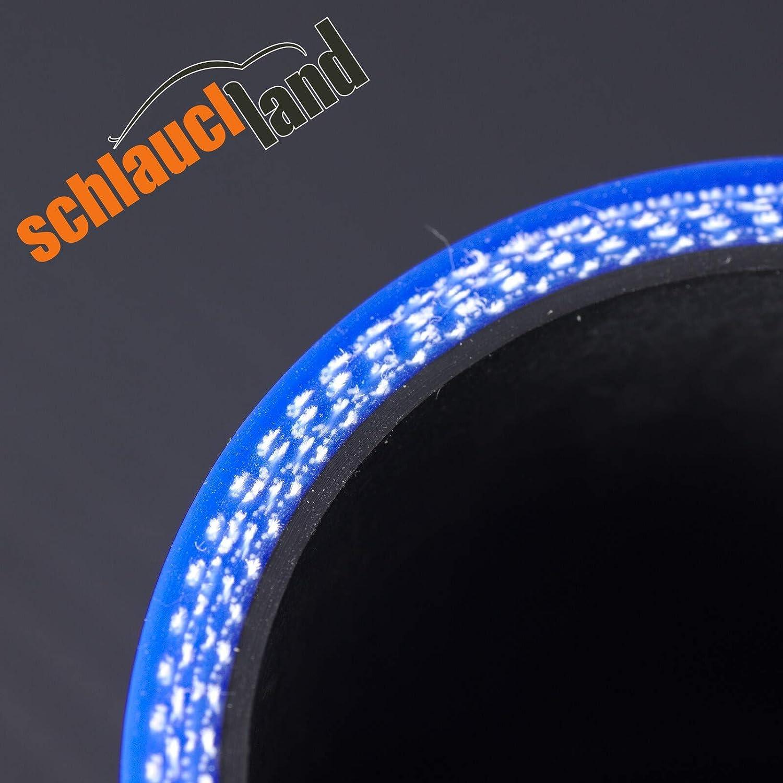 45/° Silikon-Reduzierbogen ID 76-54mm schwarz*** Silikonschlauch Grad Reduzierst/ück K/ühler LLK