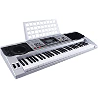mecor Clavier electronique Digital 61 Touches Portable avec USB Music Player LCD Double Keyboard