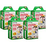 Fujifilm Instax Mini Instant Film, 10 Sheets of 5 Pack × 2 (100 Sheets)
