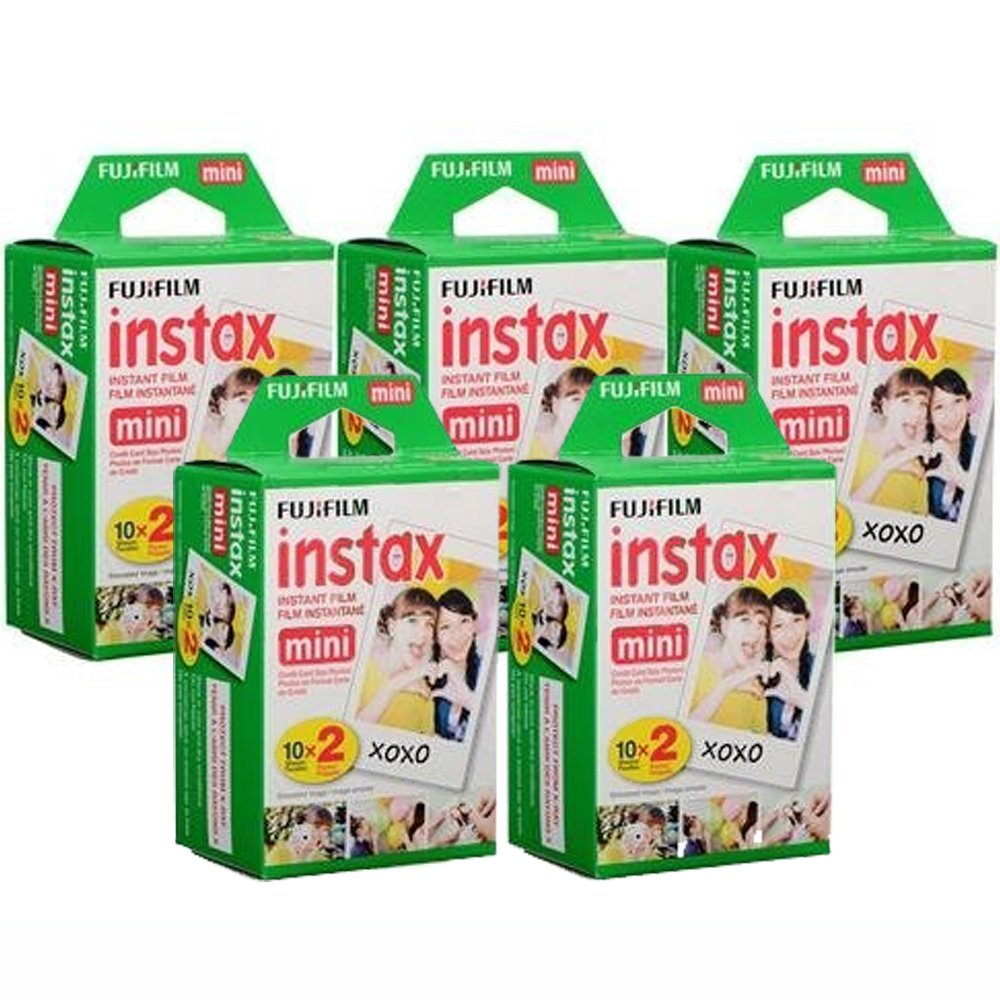 Fujifilm Instax Mini Instant Film, 10 Sheets of 5 Pack × 2 (100 Sheets) - Unauthorized product by Fujifilm
