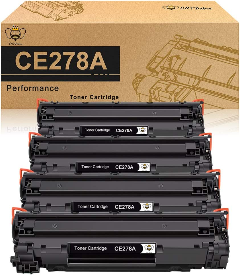 CMYBabee Compatible Toner Cartridge Replacement for HP 78A CE278A Toner for HP Laserjet P1606dn 1606dn M1536dnf 1536dnf - 4 Pack