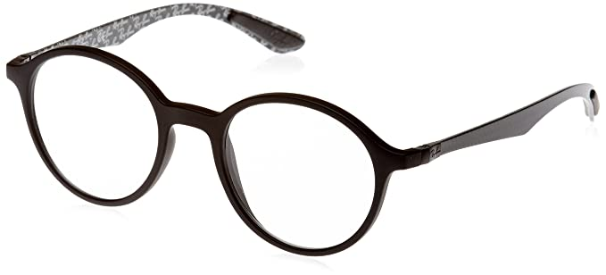 22e18bc5fd Amazon.com  Ray-Ban Men s RX8904 Eyeglasses Matte Black 48mm  Clothing
