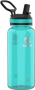 Takeya Tritan Sports Water Bottle with Straw Lid, 32 oz, Ocean