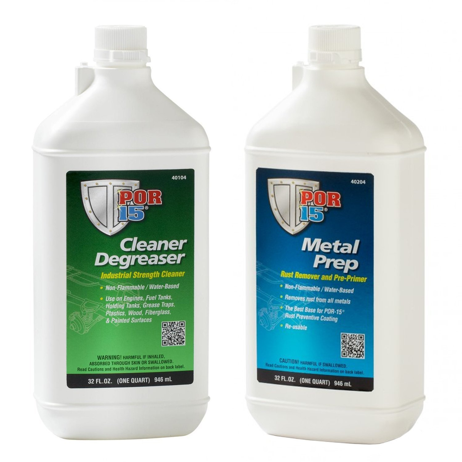 POR-15 Quart Cleaning Kit with Marine Clean Degreaser & Metal Ready Surface Prep Solution by POR-15 (Image #1)