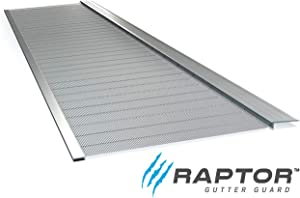 "Stainless Steel Micro-Mesh, Raptor Gutter Guard: A Contractor-Grade DIY Gutter Cover That fits Any roof or Gutter type-48ft to a Box and fits a 6"" Gutter."