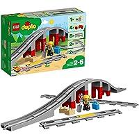 LEGO 10872 DUPLO Town Treinbrug en -rails Bouwstenenset met Claxon Actiesteen voor Kinderen van 2 Jaar en Ouder