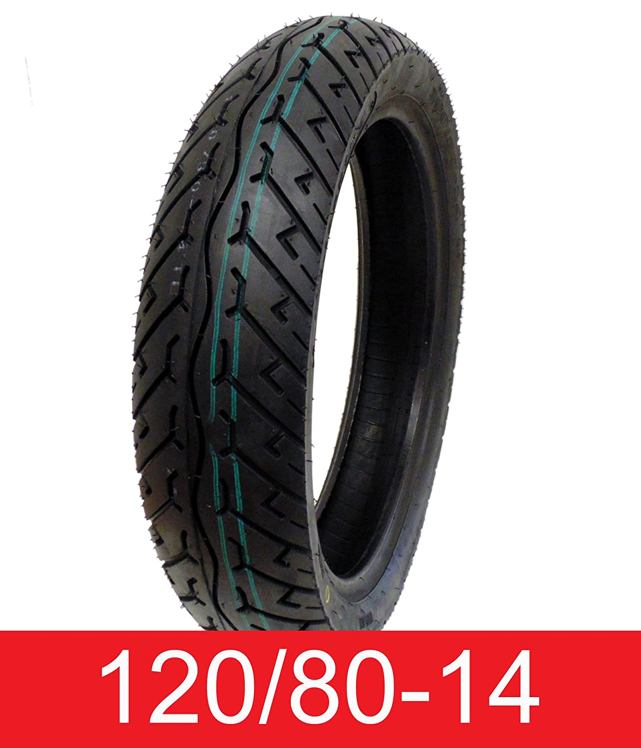 Tire 120 80 14 Tubeless Front Rear Motorcycle Scooter 110 Velg Moped Automotive