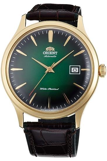 Orient Reloj Analógico para Hombre de Automático con Correa en Cuero FAC08002F0: Amazon.es: Relojes