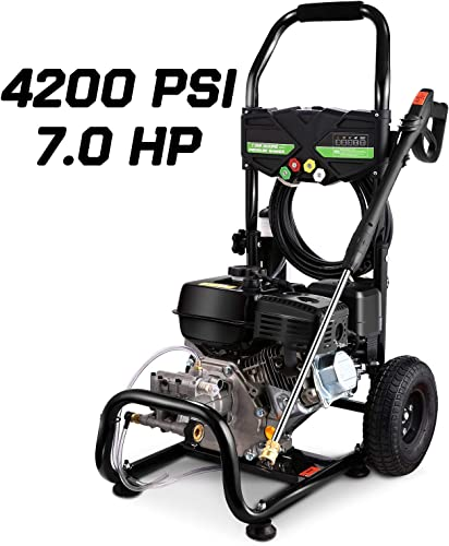 TEANDE Gas Pressure Washer 212CC Gas Powered Power Washer for Cars Fences Garden,4200 PSI at 2.8 GPM