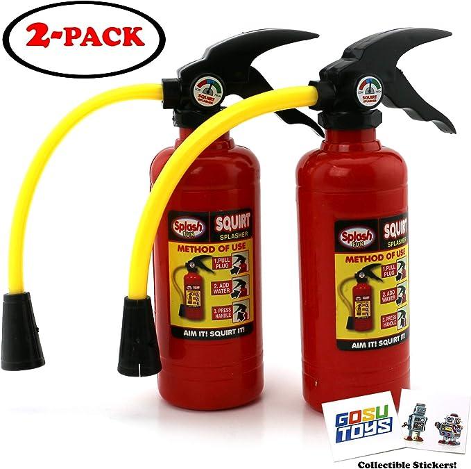 Plastic Water Gun Toy Creative Fire Extinguisher Style Kids Water Pool Fun