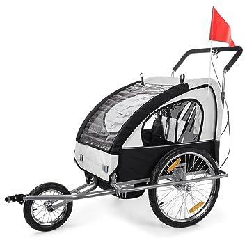 SAMAX - Cochecito infantil para remolque de bicicleta, color blanco