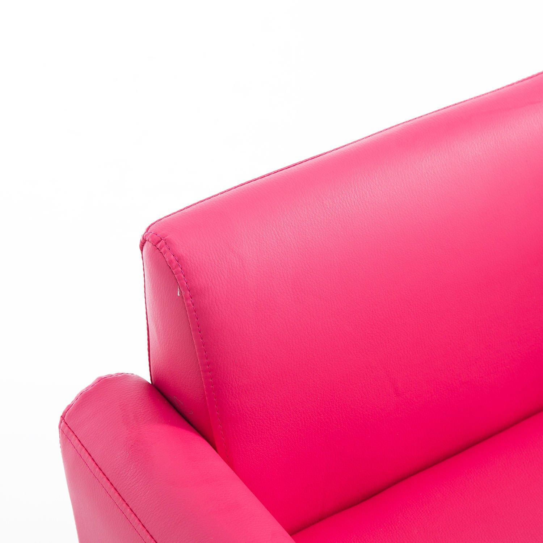Qaba 33 Kids PU Leather Storage Sofa - Pink by Qaba (Image #8)