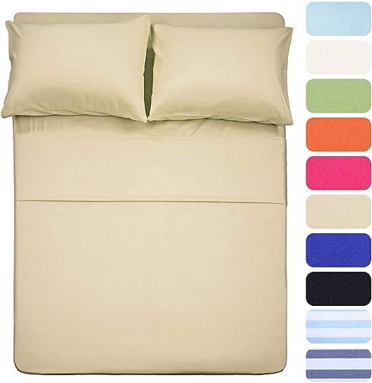 Decent Bedding - Juego de sábanas de algodón Egipcio ...