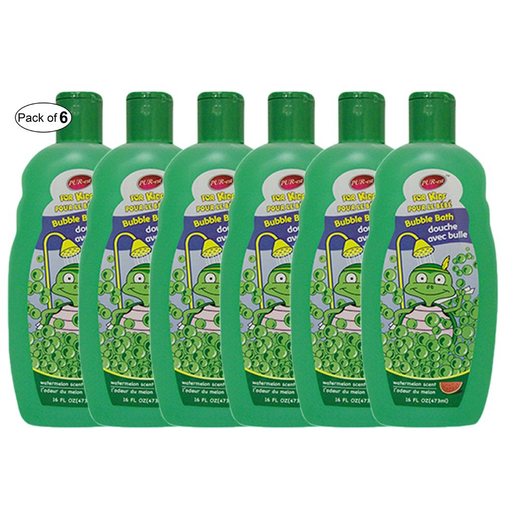 Purest Kids Bubble Bath With Watermelon Scent(473ml) (Pack of 6)
