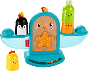 Fisher-Price Stack and Rattle Birdie, Baby Rattle and Stacking Toy
